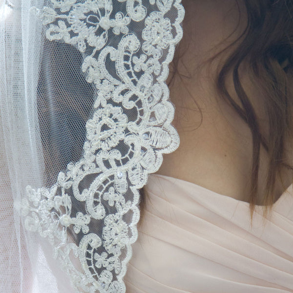 spanish lace veil cathedral length