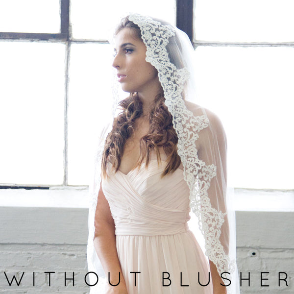 mantilla wedding veil cathedral length alejandra