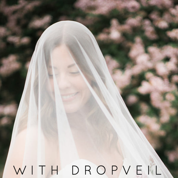 drop veil blusher mantilla veil