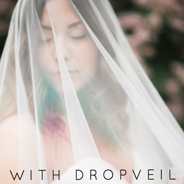 mantilla wedding veil cathedral length with paisley lace drop veil