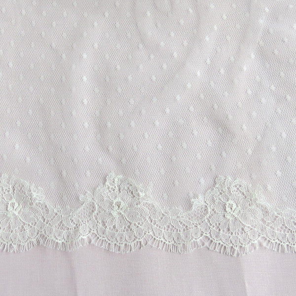 polka dot mantilla veil with blusher