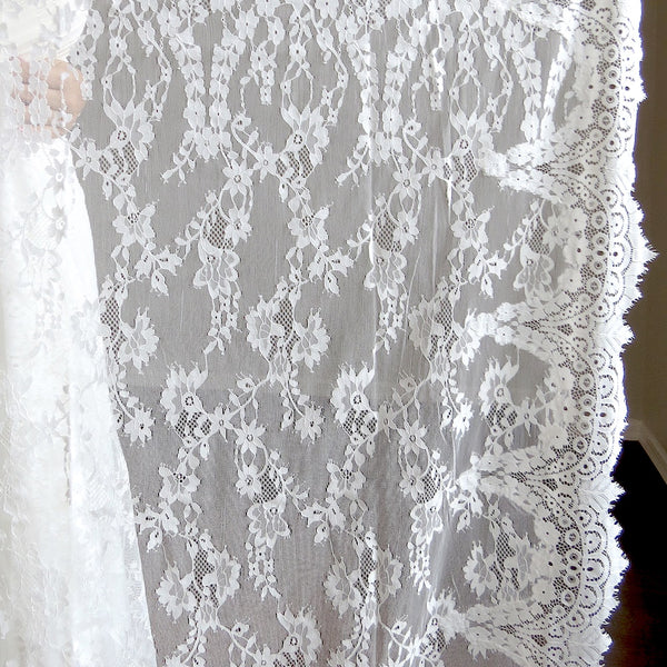 rectangular mantilla veil for bride and groom