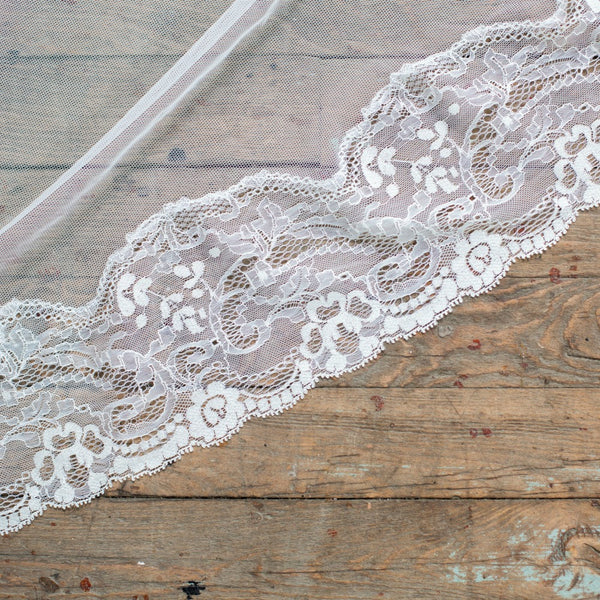 cathedral length mantilla veil in ivory