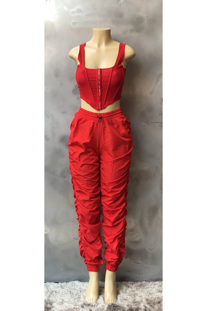 Red Stack Pants