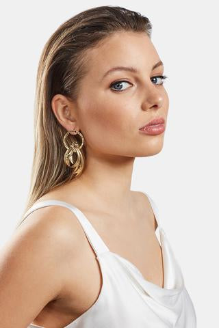 Cigario Earrings | Gold