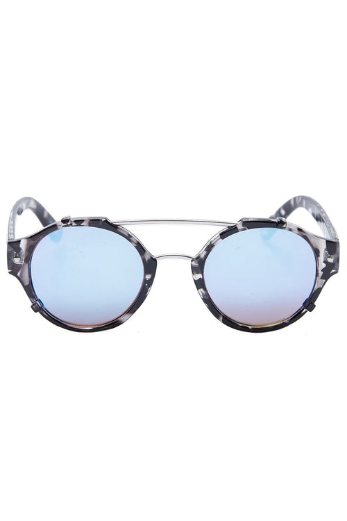 Quay australia It's a sin Black Tortoise shell blue mirrored lens