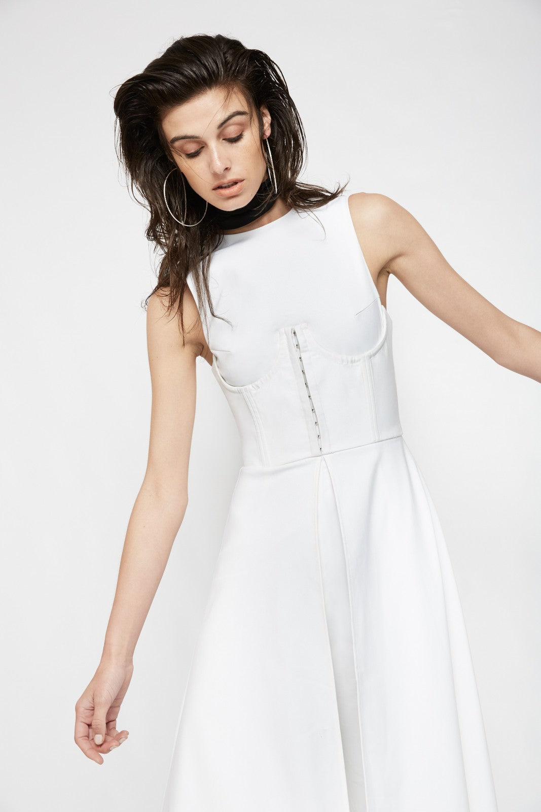 Shadows In The Glass Jumpsuit | White