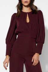 Ready Or Not Top | Burgundy