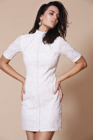 Bellflower Smock Dress | Blanc