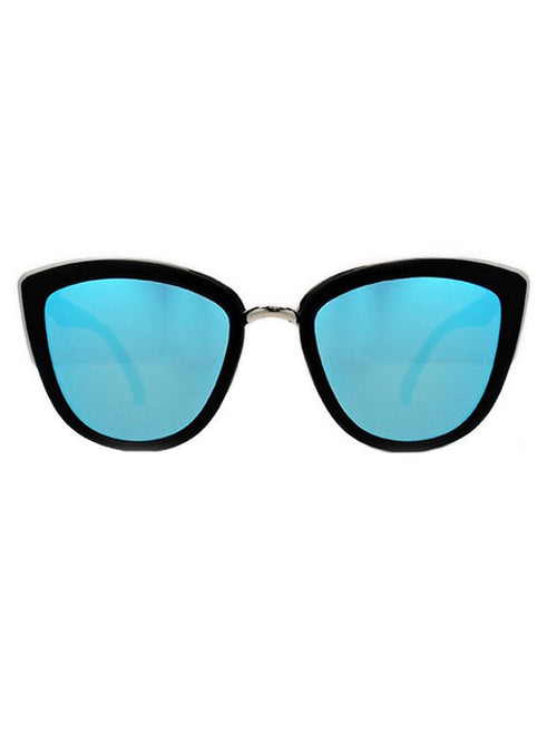 My Girl Quay Australia Sunglasses Black/Blue