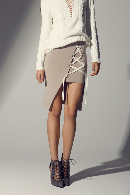The Little Things Knit Skirt | Taupe