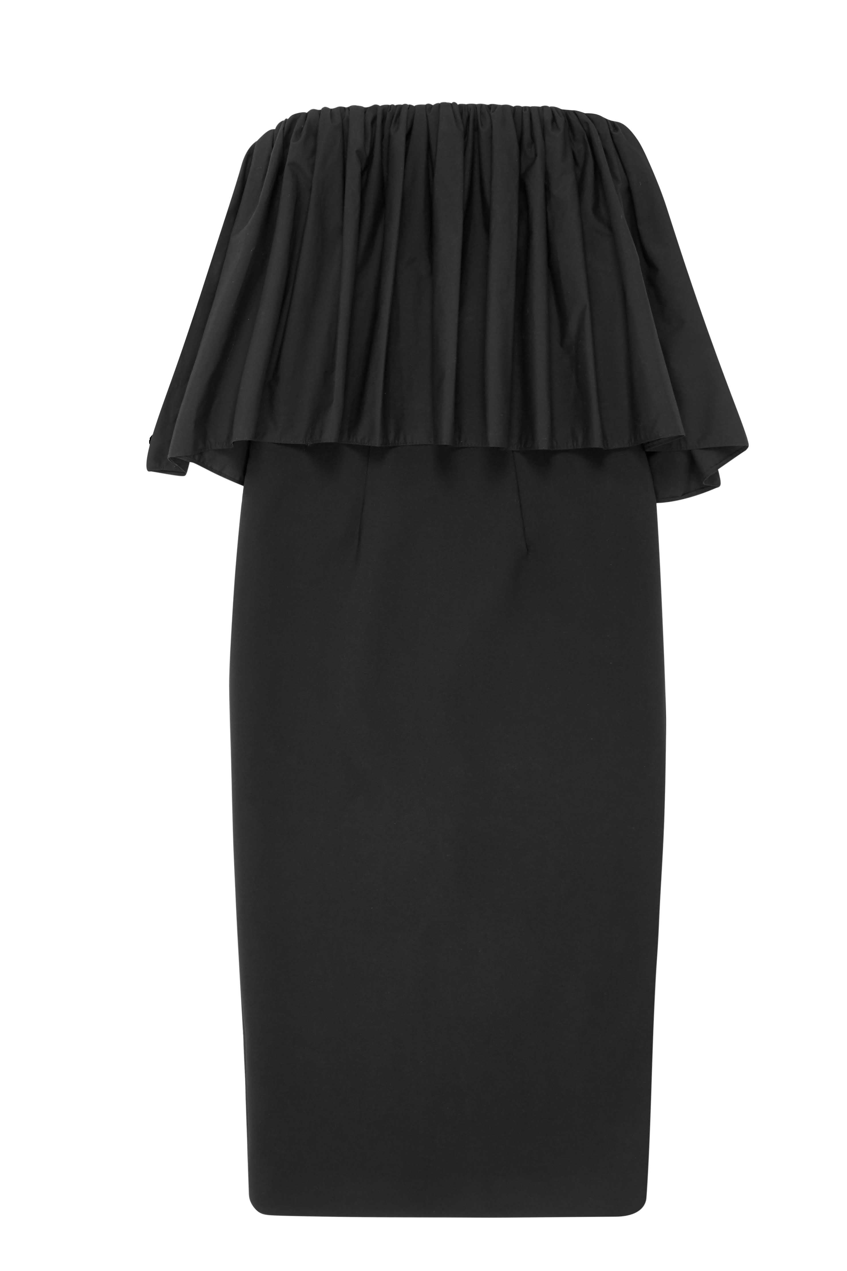 By Johnny Cotton Gather Strapless Dress Black