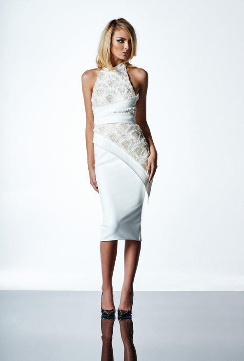 Little Havana Dress | White/Gold