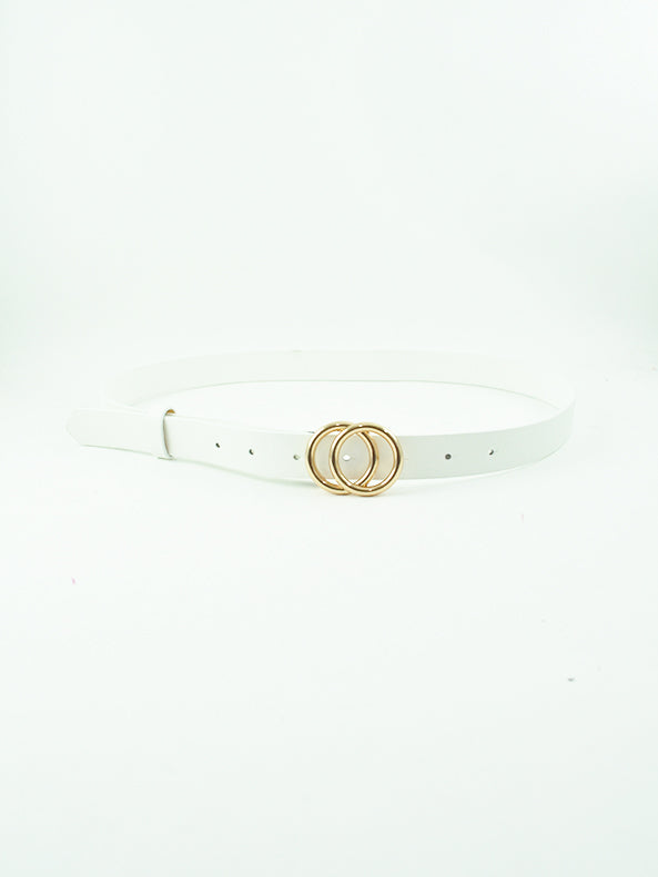 Double Circle Belt | White