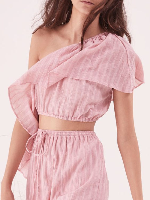 Moonlight Shoulder Top | Rose Pink