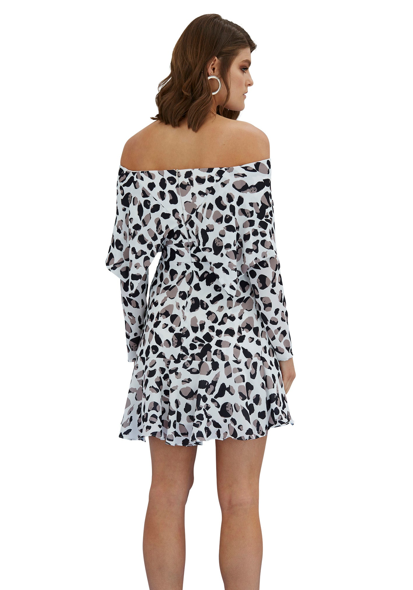 By Johnny Latte Leopard Mini Flip Dress