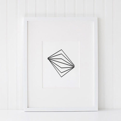 Illusion Graphic Print Wall Art Typography Monochrome Saylor & Saige Interior Styling
