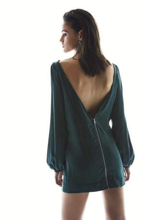 Time Tunnel Dress | Emerald