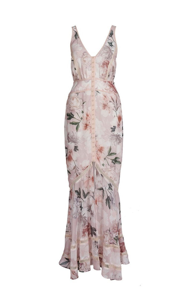 We Are Kindred Magnolia Blouson Maxi Dress | Blush Tigerlily