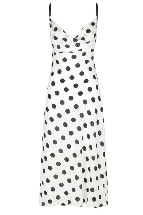 Milena Silk Dress | Black Spot