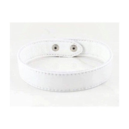 White Leather Choker Necklace