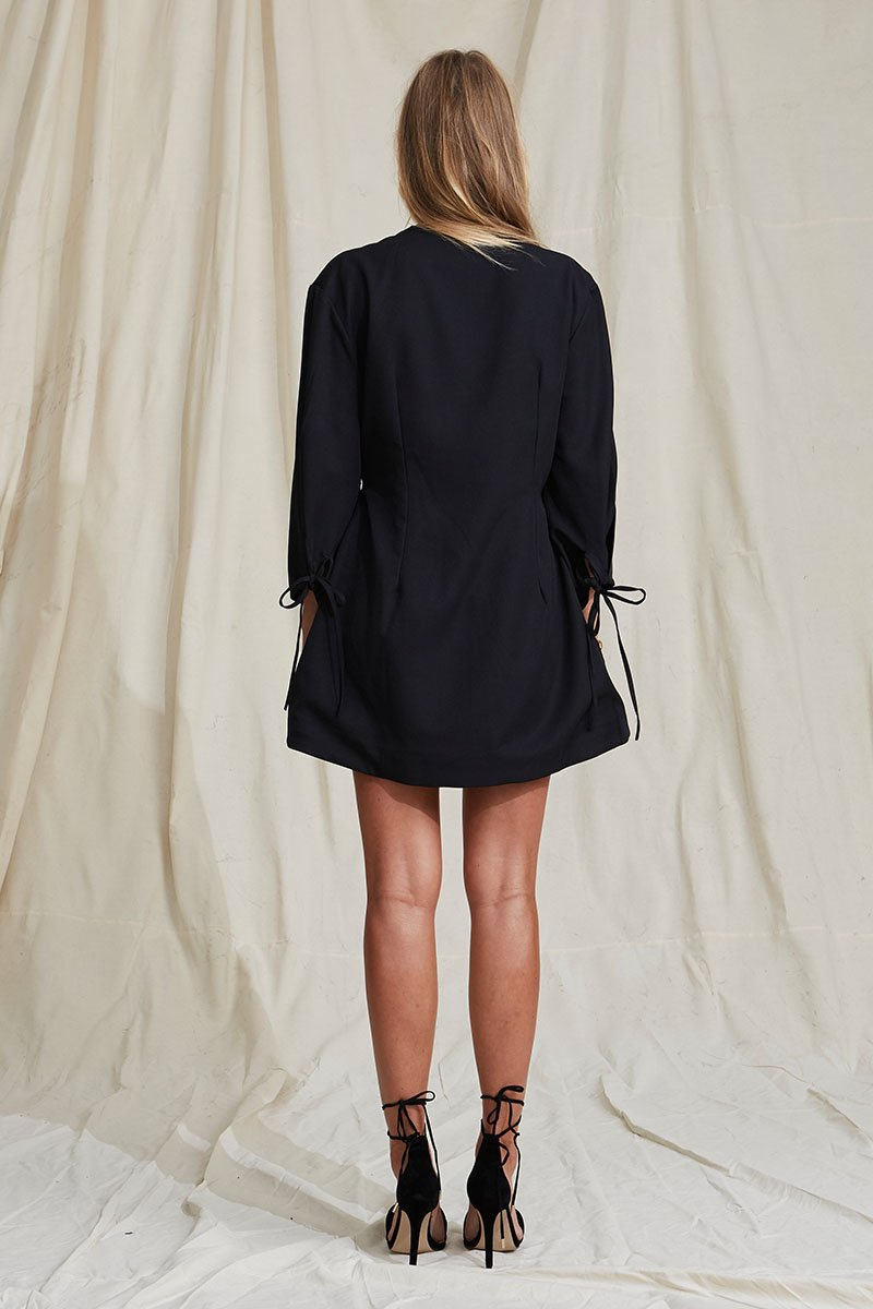 Lejano Jacket Dress | Charcoal