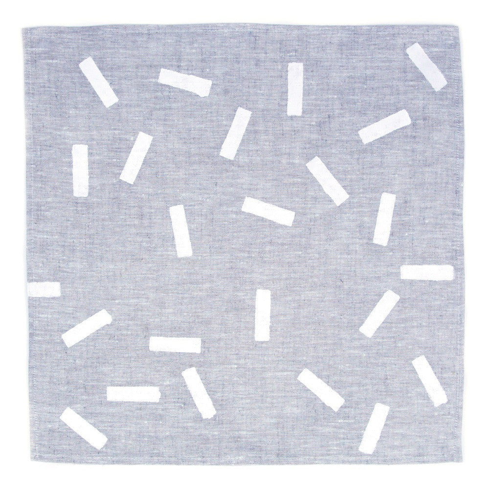 Snakes & Ladders Napkin Set of 4 | Oatmeal/White