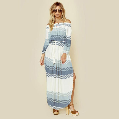 Rae Maxi Dress | Verde Stripe