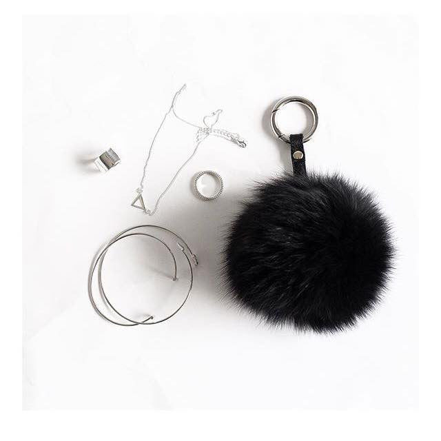 The Naked Vice Pom Pom Keyring Saylor & Saige