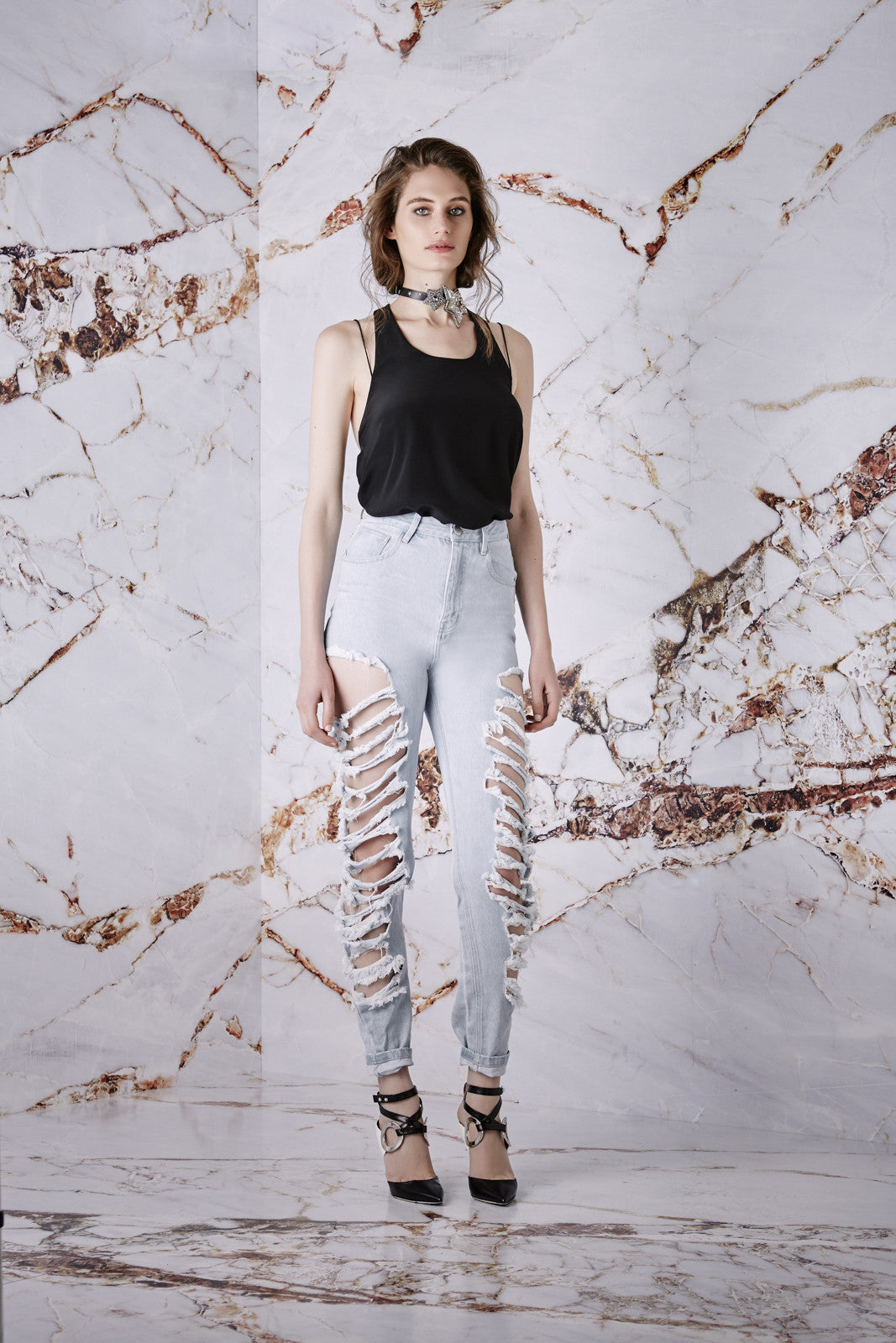 Asilio Wild At Heart Ripped Jeans