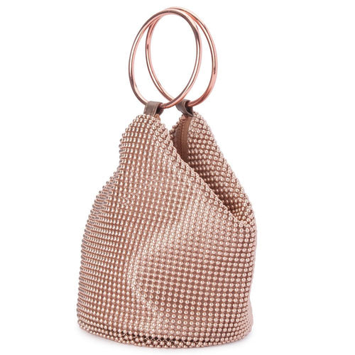 Bianca Ball Mesh Bag | Rose Gold