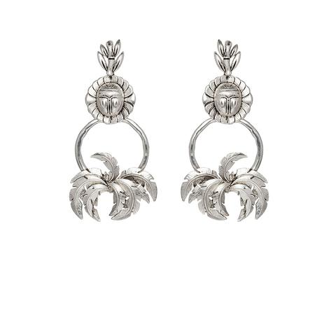 Palmera Earrings | Silver