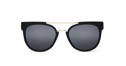 Quay Australia Odin Sunglasses Black Smoke Gold