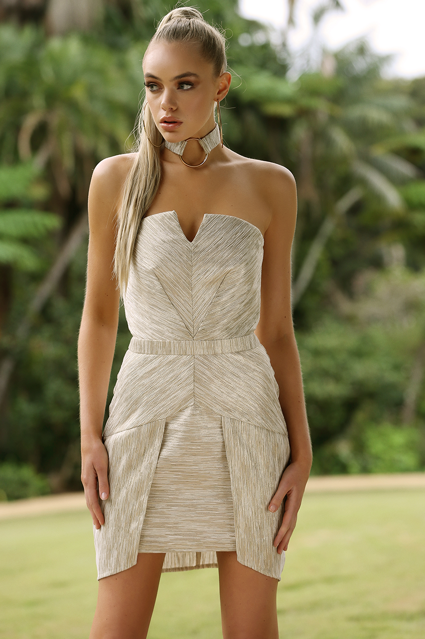 Luminosity Dress | Gold