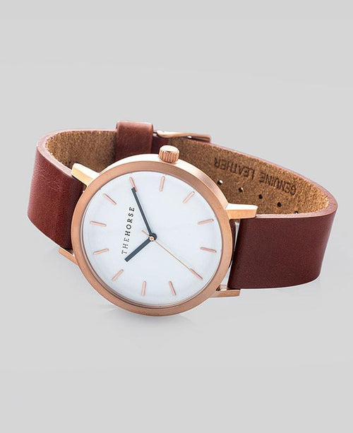 The Original | Rose Gold / Walnut Leather