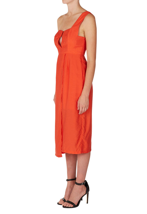 Bracket Dress | Tangerine