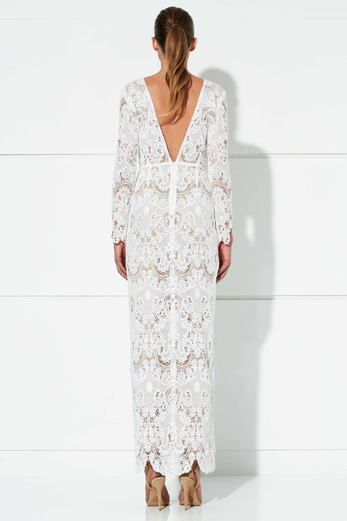Winona Harper Maxi Gown Wedding Dress White Lace