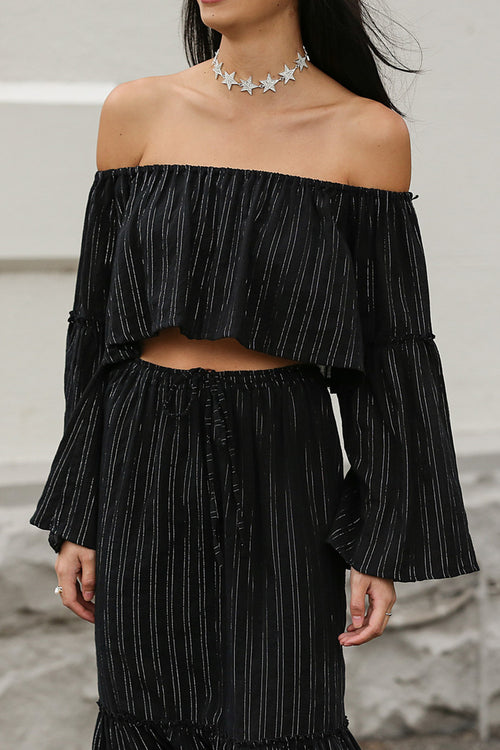 Steele Moonlight Top Metallic Pinstripe