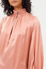 Libby Silk Top | Pink