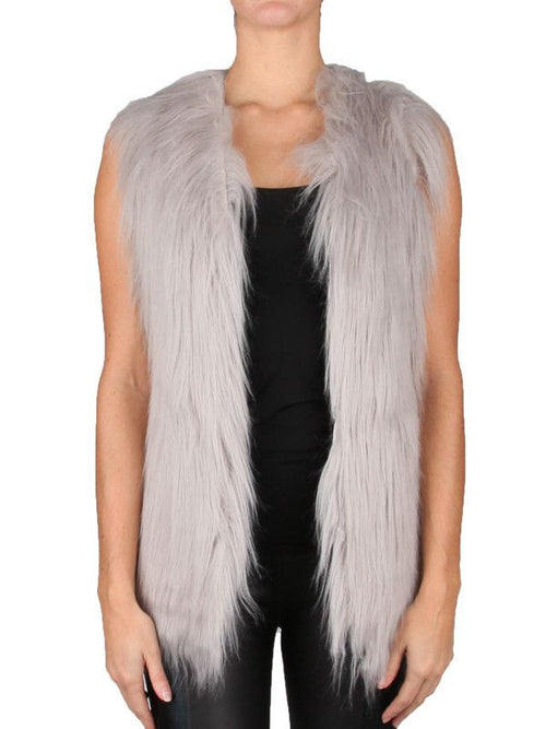 Unreal Fur Play Vest Grey