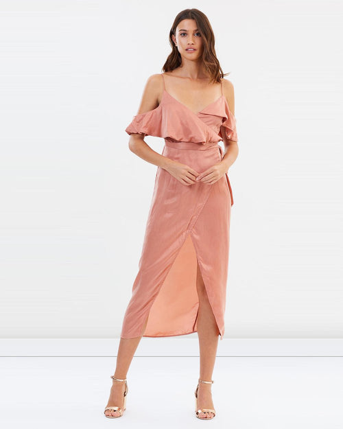 Cabana Wrap Dress | Dusty Pink