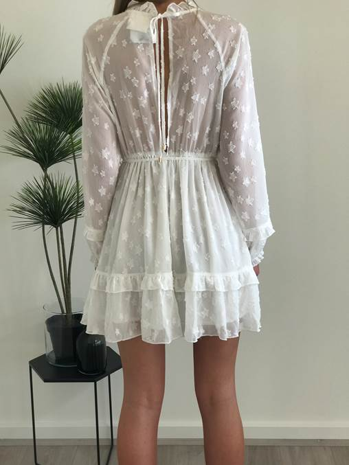 Starry Night Dress | White