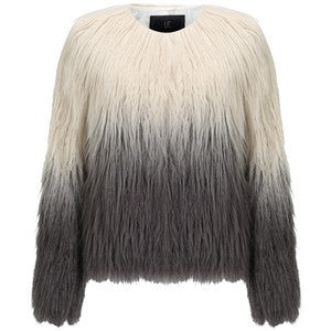 Unreal Fur Pastorale Ombre Jacket Champagne Charcoal