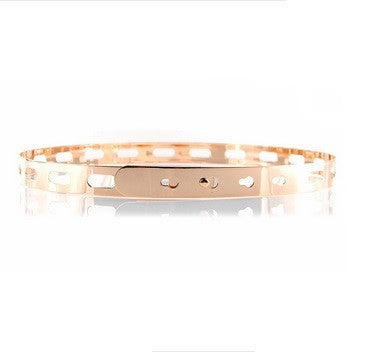 Thin Cut Out Belt | Rose Gold