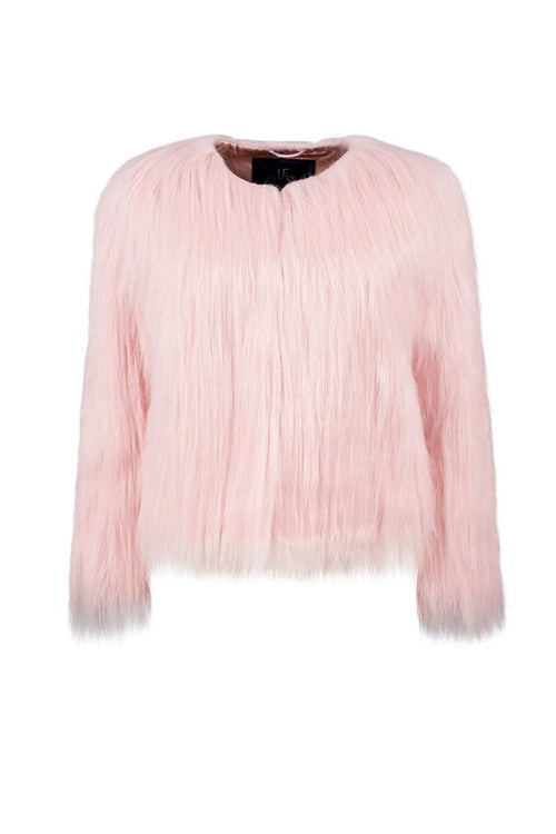 Unreal Fur Dream Jacket Pink Vegan Fur