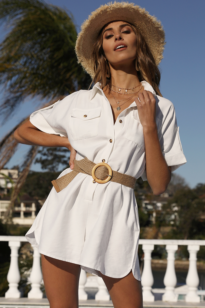 The Weekend Playsuit | White