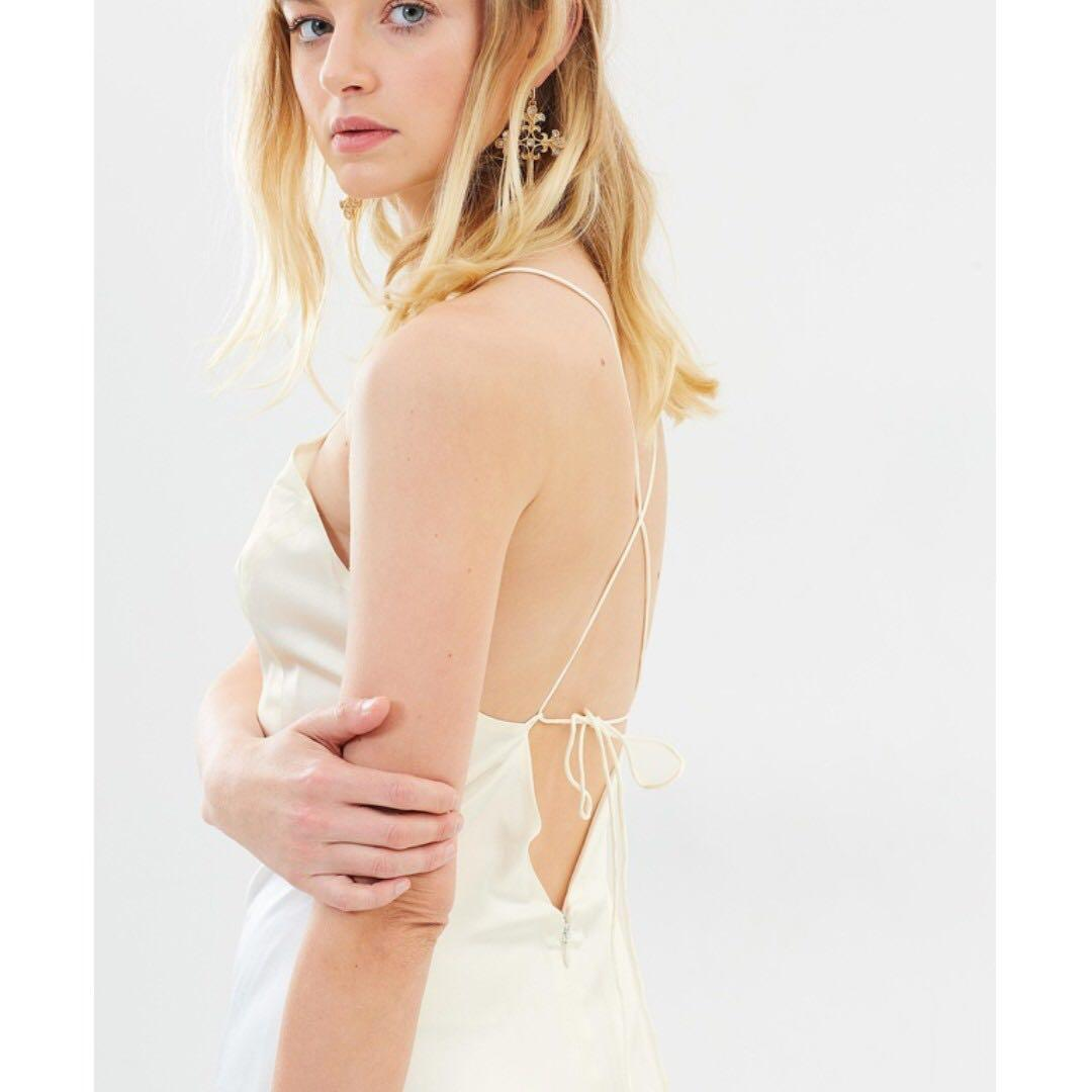 Zen Silk Dress | Bone