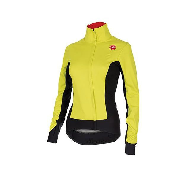 Castelli AlphaW Jacket Womens Cycling Jacket WindStopper Jacket Yellow Small NEW-Misc-The Gear Attic