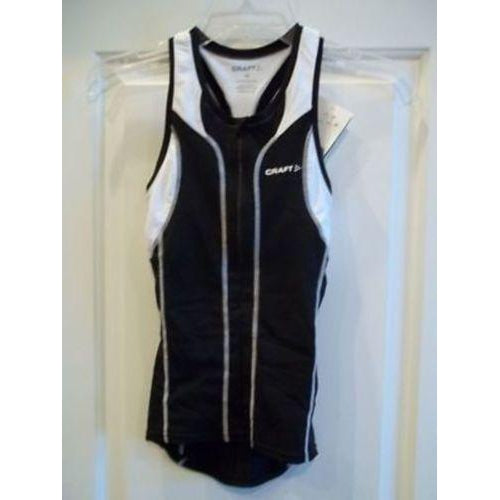 New Craft Sports Womans PT Singlet XS Black/White Tri-Misc-The Gear Attic