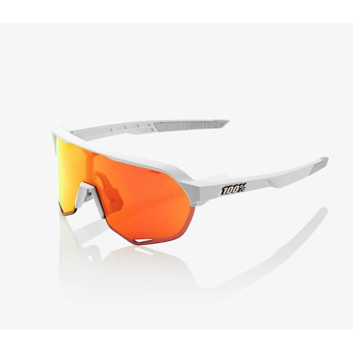 100% Percent Cycling S2 Sunglasses - Matte Off White - HiPER Red Multilayer Mirror Lens-Misc-The Gear Attic